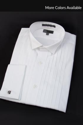 Wingtip Collar, Pleated Tuxedo Shirt Tuxedo Accessories
