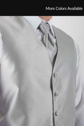 Silver Vest Tuxedo Accessories