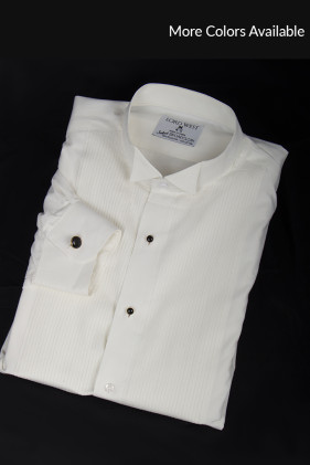 Ivory/Off-white Non-Pleated Tuxedo Shirt Accessories