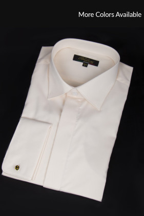 Peachy Cream Non-Pleated Tuxedo Shirt Accessories