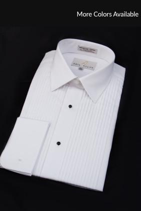 Laydown Collar, Pleated Tuxedo Shirt Accessories