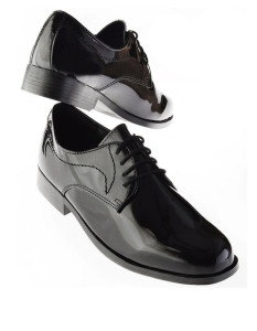 'Genoa' Black Shoes Tuxedo Accessories
